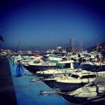 båthamnen i Puerto de Mazzaron